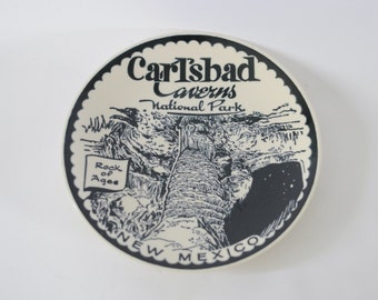 Vintage Carlsbad Caverns Plate National Park New Mexico NM Rock of Ages Ironstone Enco National NY Made jn USA