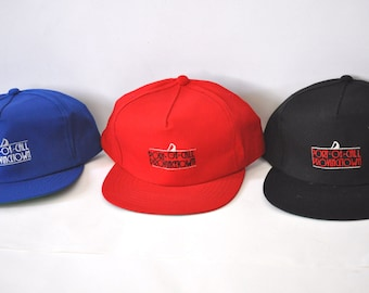 Provincetown Cap Hat Cape Cod Ma Port of Call Embroidered  Vintage Baseball Trucker Hat 90s Royal Blue Red Black