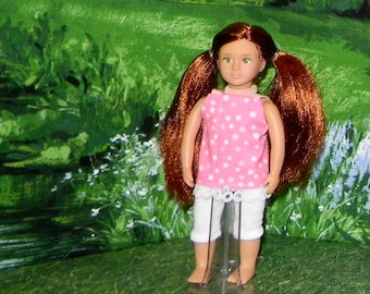 OGM-147) 6.5 inch Our Generation , American Girl, and Lori , MINI doll clothes, 1 leggings and cute top