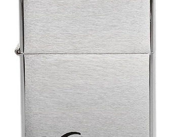 Brush Chrome Pipe Zippo Lighter with Free Engraving