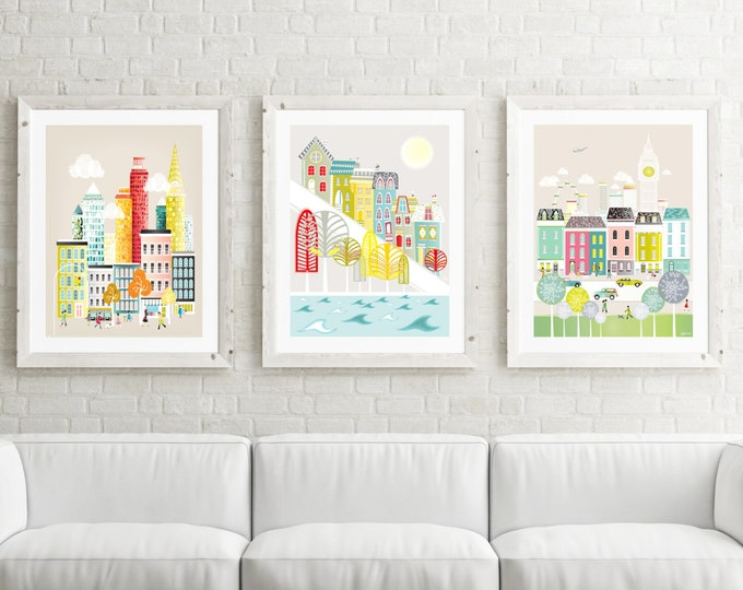 Featured listing image: Large Prints Wall Art, Large Prints for Home, Pick ANY 3 images in my shop; LARGER (11x14 / 11x15 / 15x19). New York, Paris, London, Chicago