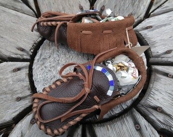 Buffaloskin Youth Moccasins - Size 4