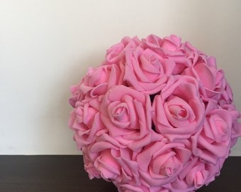 Pink Kissing Ball Pomander Flower Ball
