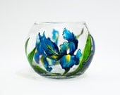Irises votive holder