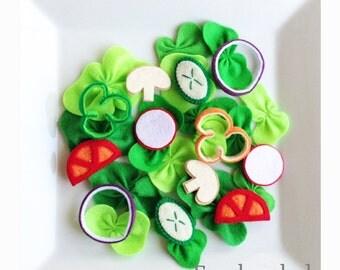 Pretend Felt food  How to make Fresh salad