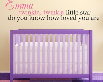 Twinkle Twinkle Personalized Custom Quote Vinyl Wall Decal Sticker B10