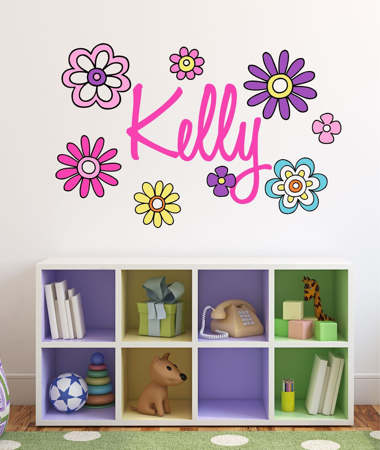 unique flower wall decals