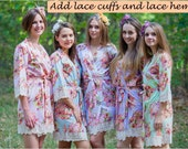 Add lace cuffs and lace hems to your robes