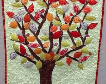 Fall Tree Quilted Wallhanging