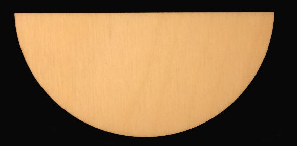 Semi Circle Half Circle Shape Natural Craft Wood Cutout 1776