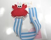 Pacifier holder, pacifier clip, red crab pacifier clip, red crab baby gift, binky clip, binky holder, baby shower gift, paci clip
