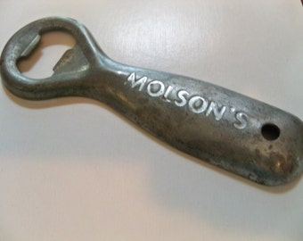 molsons beer bottle  opener vintage old collectible