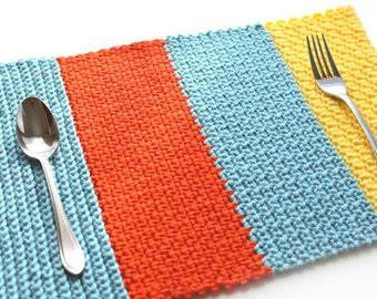 Single Crochet Sampler Placemat - PDF Crochet Pattern - Instant Download