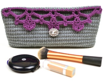 Lacy Top Cosmetic Bag - PDF Crochet Pattern - Instant Download