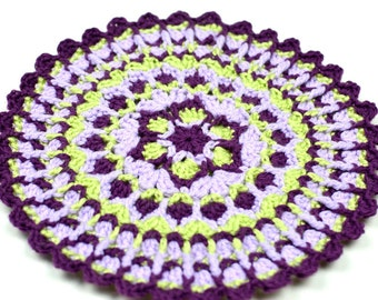 Lilac Trellis Mandala - PDF Crochet Pattern - Instant Download