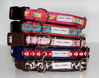 PBJ World Custom Ribbon Collars 5/8th Width