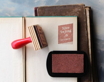 Custom Book Plate Stamp // Personalized Rubber Stamp // Bookish