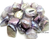 Amethyst Rainbow Aura Tumbled Stone, crystals, Reiki, Feng Shui,  Large, Crystal Grids, Wire Wrapping