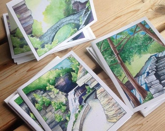 Ithaca Gorges: set of 6 blank note cards with envelopes