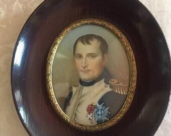 19th century Napoleon portrait on ivory
