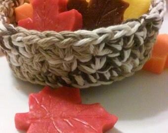 Nesting Bowls, Crochet bowls, Storage Bowls, Individual Bowl, Autumn Gift Basket