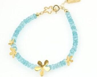 Blue Aqua Apatite bracelet