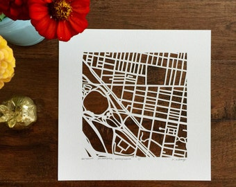 philadelphia neighborhood maps, 10x10