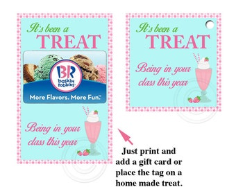 Digital Teacher Thank You Card in a treat theme ready to print