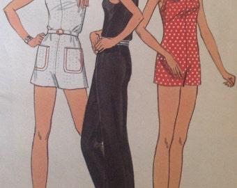 Vintage Butterick 6703 Mod Jumpsuit • size 14 Uncut