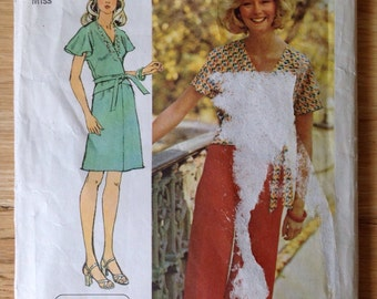 Vintage 70s Dress or Tunic Simplicity 6292 Sewing Pattern • size 8
