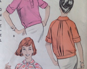 Polo Shirt Over Blouses Butterick 8809  • size 12