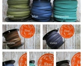 REMNANTS, 5mm Deertan Lace, Deer Tan Lace, Leather Lace, 5mm, 5mm Deertan Lace, Flat Leather Lace, 3mm Leather Lace, Turquoise Leather