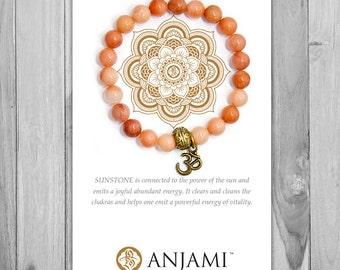 SUNSTONE,Mala Bracelet,Yoga Jewelry,Wrist Mala,yoga bracelet,Inspirational,Jewelry,Bracelet,Gemstone,Healing,Beaded,Hippy,Boho,Zen