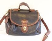 Vintage Classic black COACH bag top handle purse