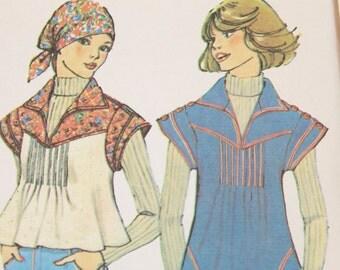 Vintage 1975 Simplicity 7218  Misses' Pullover Jumper or Top Pattern