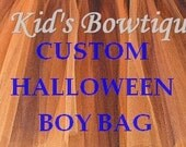 CUSTOMIZED Halloween Boy Bag - Personalized Halloween Trick or Treat Bag