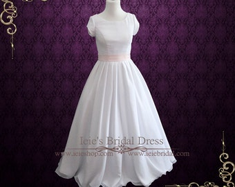 Simple Wedding Dress With Sleeves | Modest Wedding Dress | Chiffon Wedding Dress | BallGown Wedding Dress | Elegant Wedding Dress | Karen