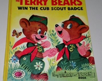 Terry Toon Book, The Terry Bears win the Cub Scout Badge