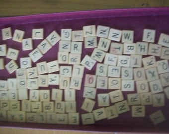 100 Complete Set of Scrabble Game Tiles