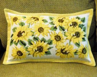Sunflower Tapestry Pillow