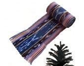 Midnight Blue Sash SA52 - Pirate Belt - Guatemalan Textiles - Boho Accessories - Reenactment Clothing - Ikat Fabric Sash - Bohemian Belt
