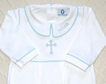 Baby Boy Baptism Outfit-Footed Baptism Outfit-Baby Boy Christening Outfit-Pima Cotton baby-Luke Baptism Outfit-Baby Boy Baptism Outfit