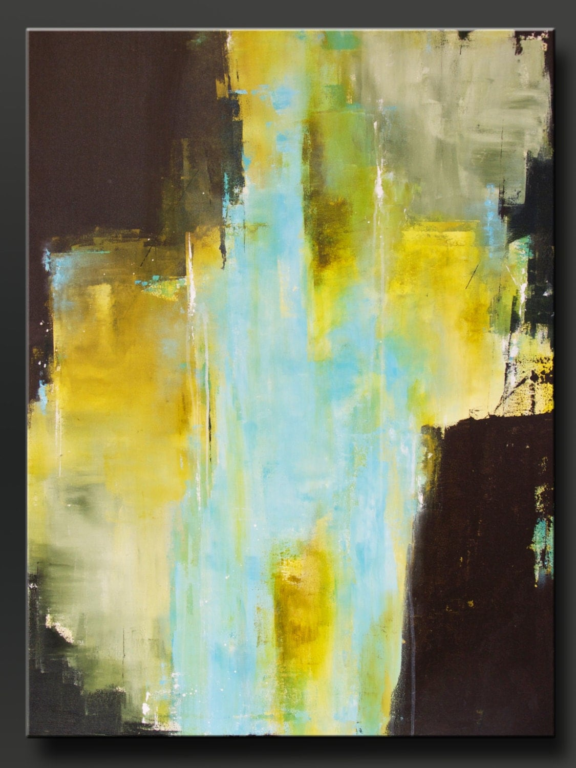 Sanctuary - 40 x 30 - Abstract Acrylic Painting - Huge Contemporary ...