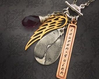 Fingerprint Necklace - Handcrafted Fingerprint Keepsake Jewelry