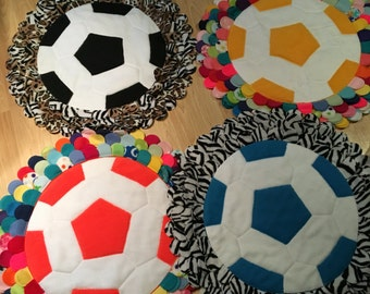 Fleece Soccerball Rug