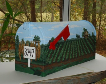 Farm Country,  Hand Painted, Mailbox, A great gift for him or her