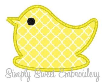 Chick Machine Embroidery Applique Design