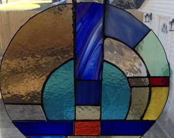 Stained Glass Circular Panel