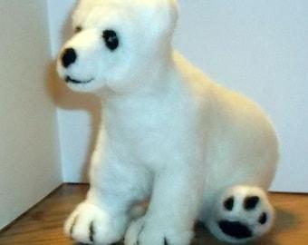 Soft and cuddly Needle Felted Polar Bear