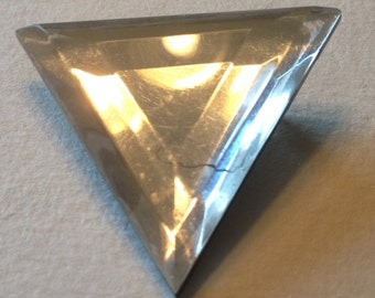 Triangle Brooch Clear Plastic Reflective